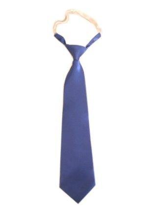 Lange blauwe stropdas