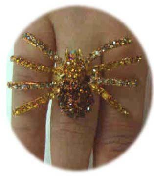 Luxe ring met goud spin verstelbaar