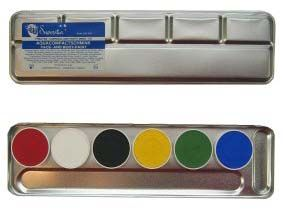 Aqua color Face Paint palette 6 colors superstar