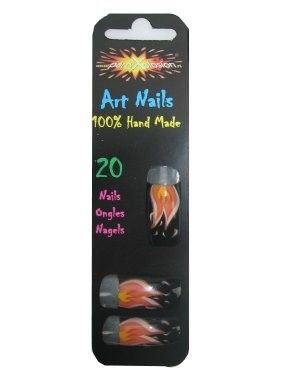 Tip Nails flames without glue
