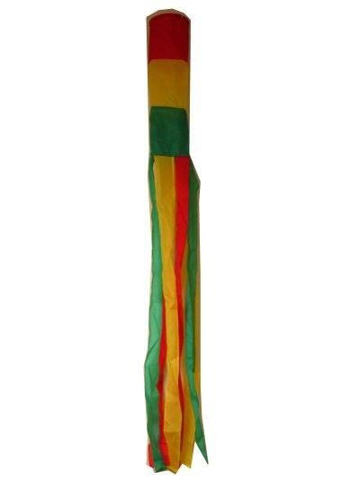 Windsock carnaval rood geel groen