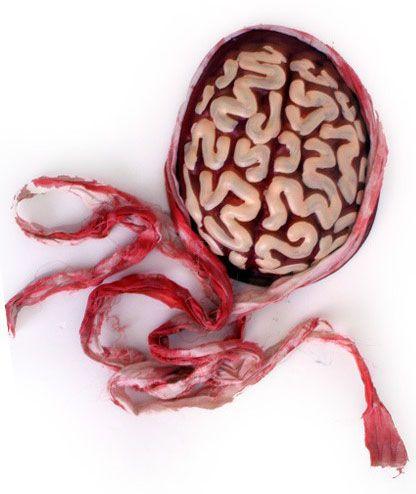 Halloween Zombie hersenen met verband