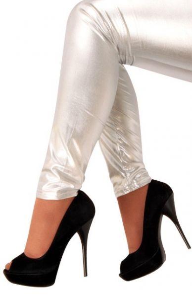 Legging metallic zilver voor meisjes