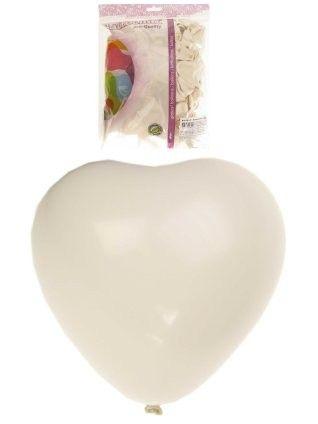 Helium hartjes ballonnen wit 100 stuks