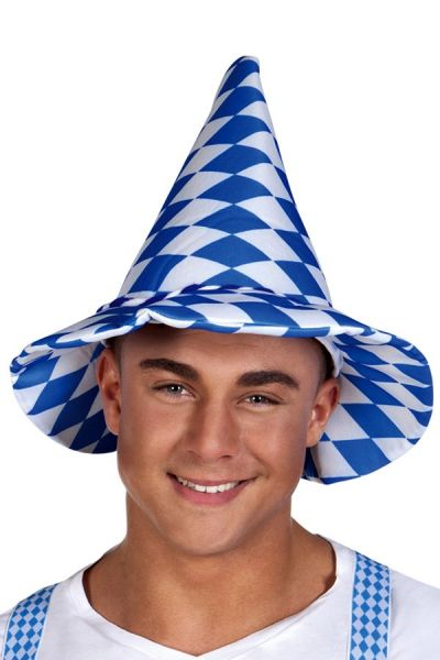 Oktoberfest Bayern hoed blauw wit