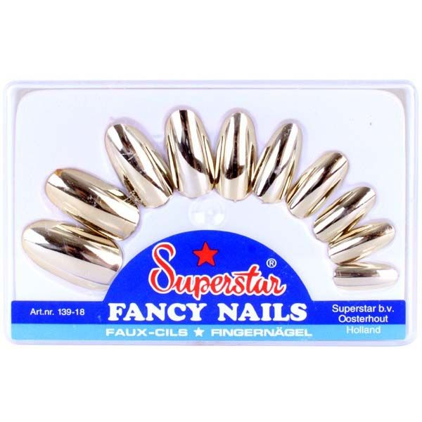 Nails Metallic gold Superstar false nails