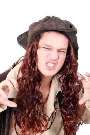 Hoed Caribische Piraat met bruin haar