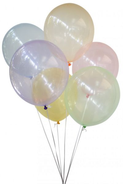 Zeepbellen ballonnen transparant assorti kleuren