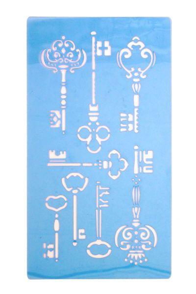 Schminksjabloon Steampunk sleutels
