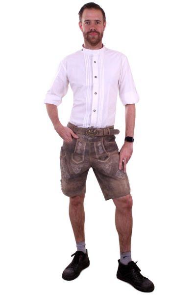 Oktoberfest Tiroler heren blouse overhemd wit luxe