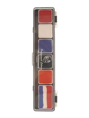 Face Paint Palette 5x3g and 1x6g UK colors with brush 2.5