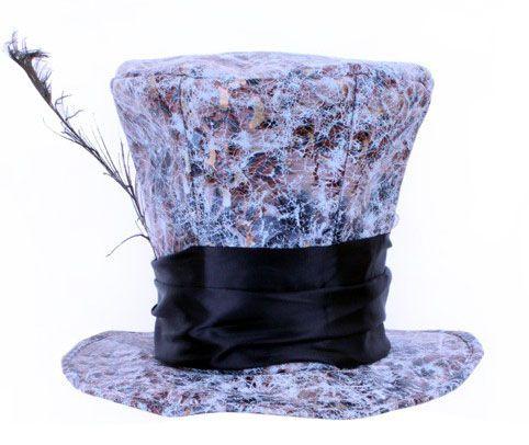 Mad hatter hoed met pauwveer