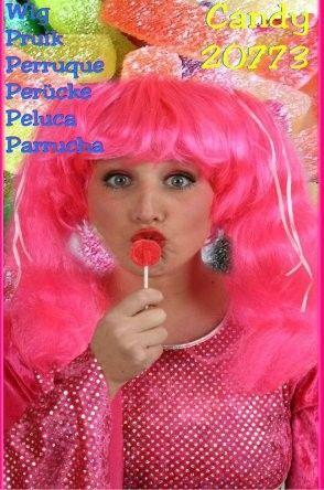 Toppers pruik Candy pruik pink