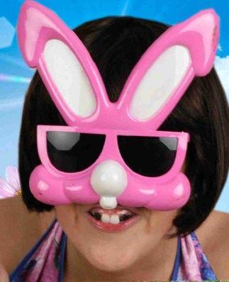 Grote roze Bunny bril