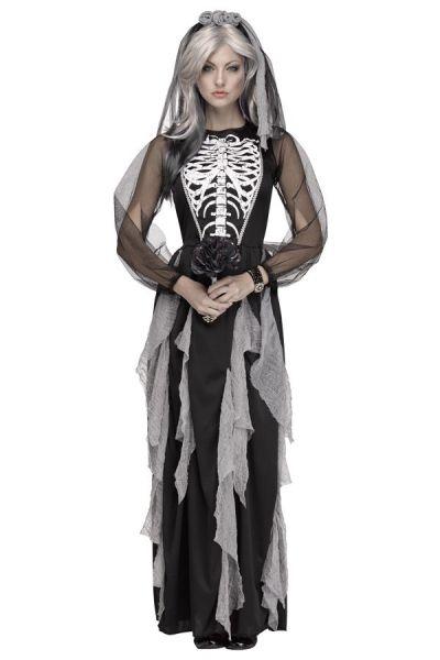Halloween Skelet bruidsjurk