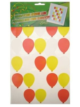 Raamsticker ballonnen rood wit geel