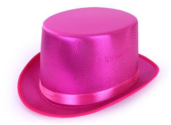 Hogehoed metallic Pink