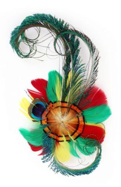 Carnaval Veren hoofddecoratie op haarclip