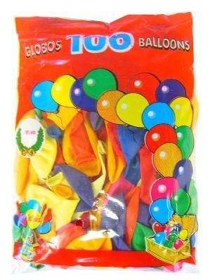 Ballonnen Assortie kleuren 100 stuks nr 9
