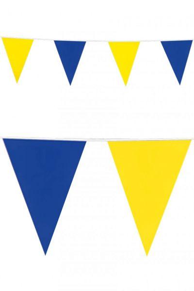 Vlaggenlijn blauw geel