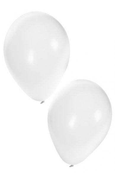 Witte heliumballonnen