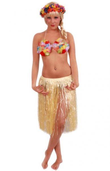 Hawaiiaanse rok kort naturelkleur
