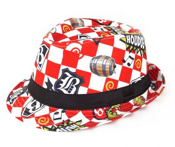 Brabants hoedje rood wit geblokt Houdoe