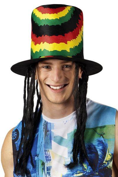 Hoed rasta Bob Marley met dreadlocks