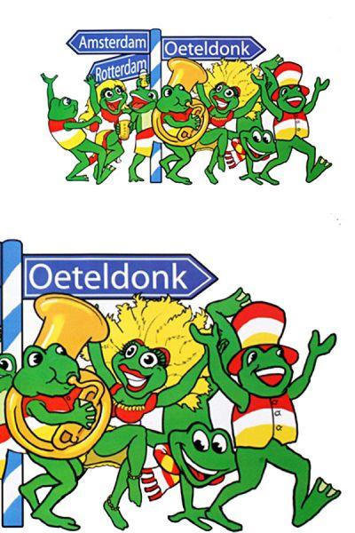 Raamsticker op naar Oeteldonk
