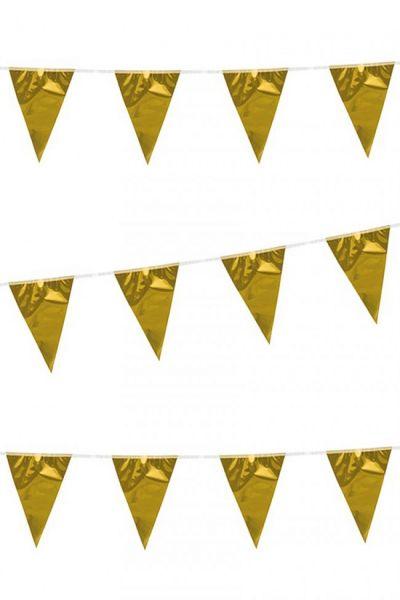 Vlaggenlijn metallic goud 120m
