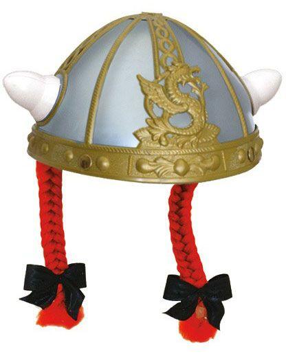 Obelix Helm met vlechtjes