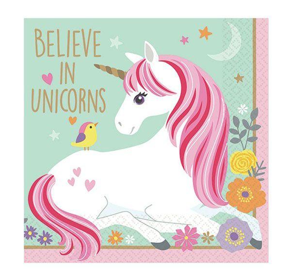 96 Servetten Unicorn Eenhoorn Papier