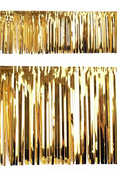 PVC slierten folie guirlande goud