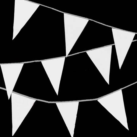 Vlaggenlijn wit feestversiering