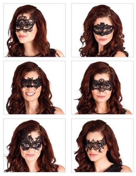 Oogmasker Masquerade met kant 6 verschillende