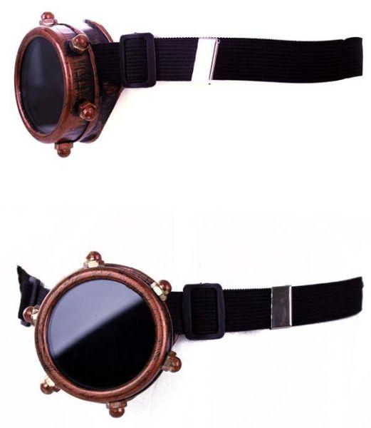 Steampunk bril monocle koperkleurig