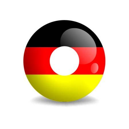 Contact Lenses Fan 3 layers flag Germany
