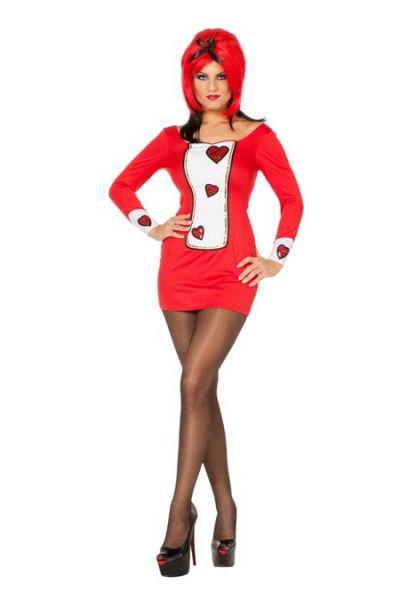Sexy Carnavalskledij Hartendame kleedje