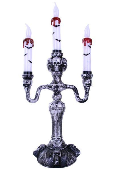 Halloween Kandelaar 3 kaarsen horror met licht