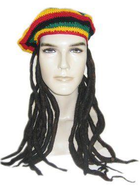 Bob Marley Dreadlocks baret met rasta haar