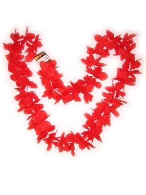 Hawaii halsketting rood slinger kransen 12 stuks