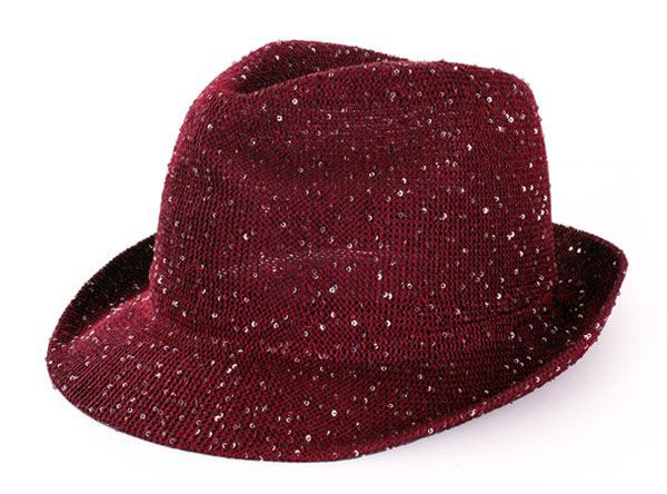 Saturday night fever glitter hoed rood