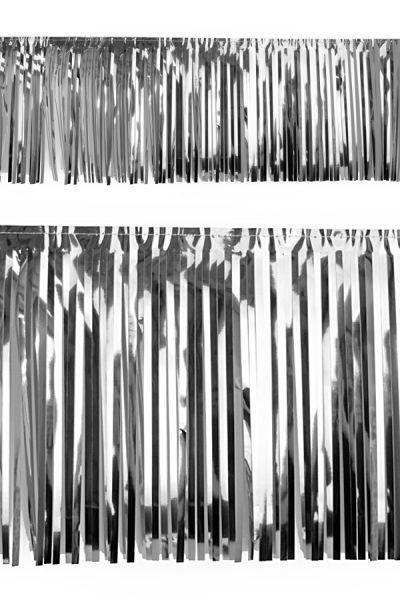 PVC slierten folie guirlande zilver