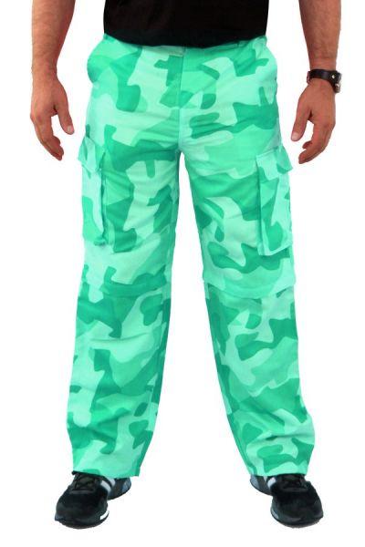 Camouflage broek groen
