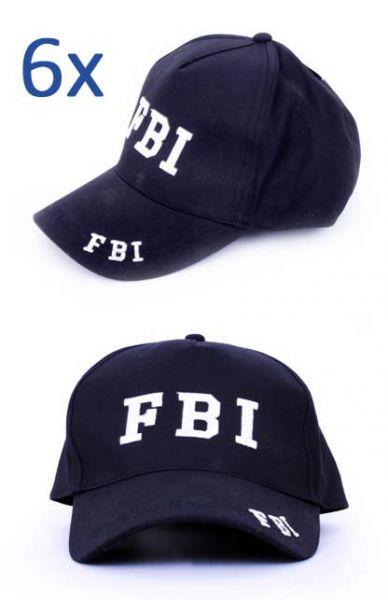 6x Baseball cap FBI