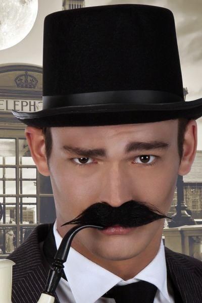 Zwarte detective snor