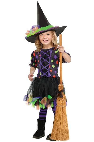 Heks Polka Dot Witch meisjes kleedje