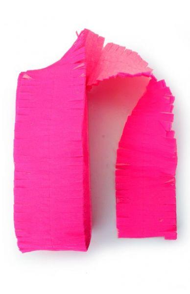 Crêpe guirlande brandveilig fluor roze