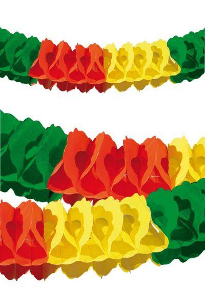 Guirlande rood geel groen Brandvertragend