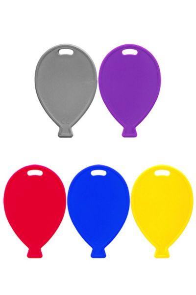 Ballongewichtjes plastic assorti kleuren per 100